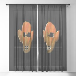 Abstract Mask II Sheer Curtain