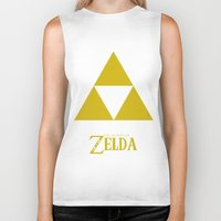 triforce Biker Tanks featuring Triforce by Jynxit