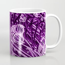 Mosaic of Owls V2 Purple for leggings Coffee Mug
