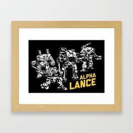 Alpha Lance Framed Art Print