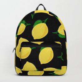 lemons in black Backpack