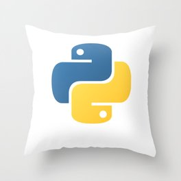 Python Official Logo Scripting Programming Language Throw Pillow