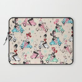 Scooter Girls Pattern Laptop Sleeve