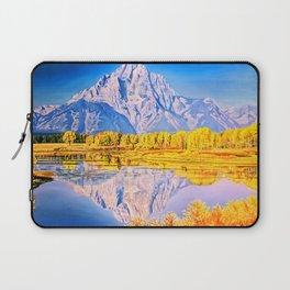 mountain reflection Laptop Sleeve