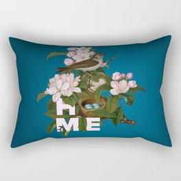 Digital Collage That Reminds Us Of Home Back In The Nest Rectangular Pillow