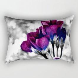 Magenta Blue Flowers Pop of Color Rectangular Pillow