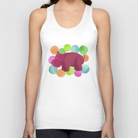 hippo Tank Tops featuring Hippo by Katy Welte