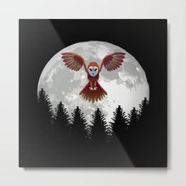 Owl Owl Shirt For Owl Lovers Metal Print