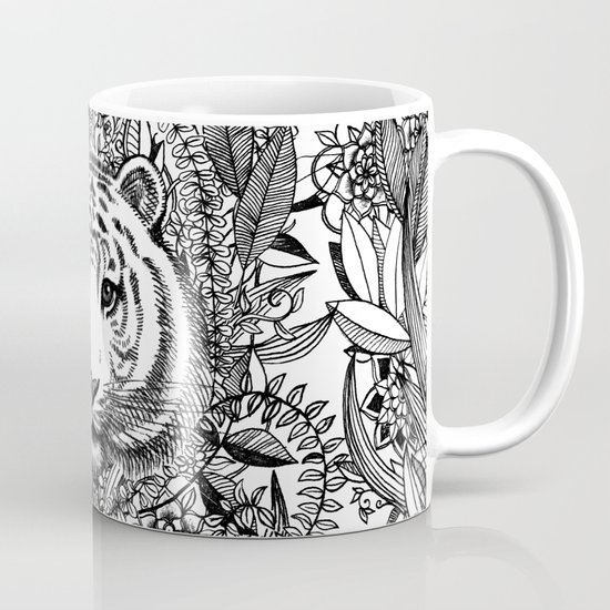 Tiger Tangle in Black and White Mug