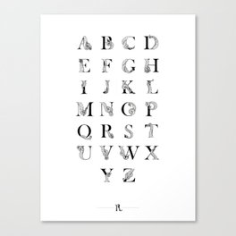 Octopus Alphabet Canvas Print