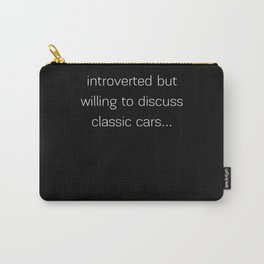 Introverted - Classic Cars Carry-All Pouch