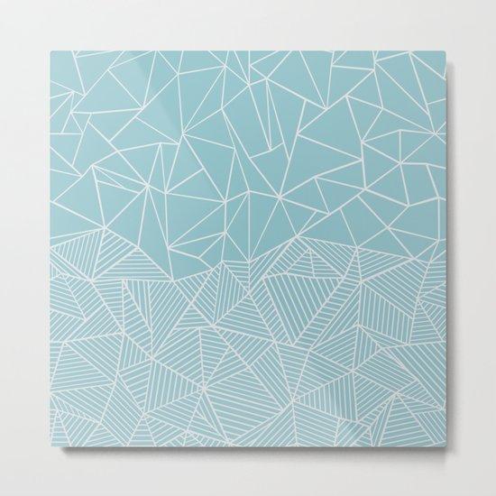 Ab Half and Half Salt Metal Print