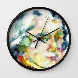 WOLFGANG AMADEUS MOZART - watercolor portrait Wall Clock