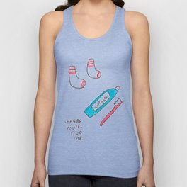WHERE YOU'LL FIND ME. Unisex Tank Top