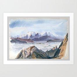 Iselle from Mount Pilatus, John Singer Sargent Art Print