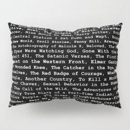 Banned Literature Internationally Print on Black Pillow Sham