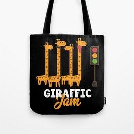 Giraffe Cartoon Funny Animals Gift Tote Bag