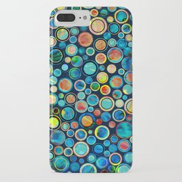 Dots on Painted Background iPhone Case