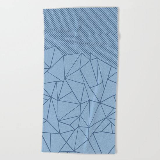Ab Lines 45 Blues Beach Towel