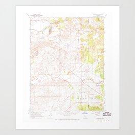 CA Carbondale 288949 1968 24000 geo Art Print