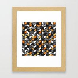 Fall Herringbone Framed Art Print