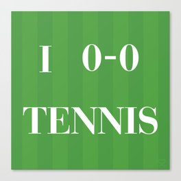 I heart Tennis Canvas Print
