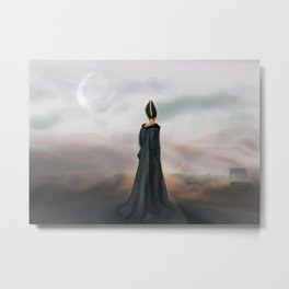 (moon) ⏆ ////// Metal Print