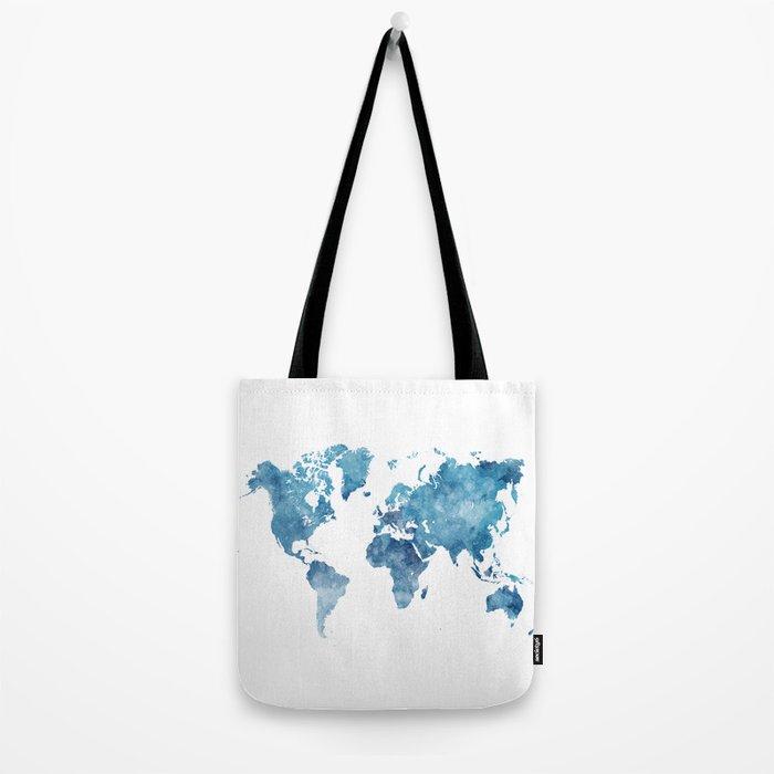 World map in watercolor. Tote Bag