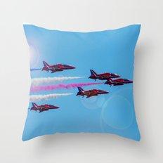 ARROWS IN FLIGHT Throw Pillow