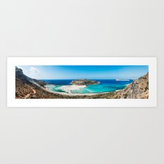 Balos Lagoon in Crete Art Print