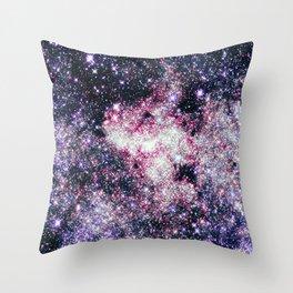 Pink Lavender Sparkle Stars Throw Pillow