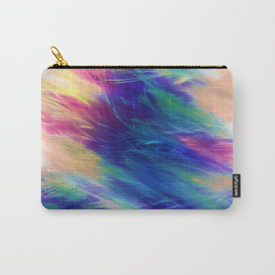 Paint Feathers in the Sky Carry-All Pouch
