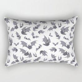 Bats White Rectangular Pillow