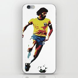 Socrates, Brazilian soccer superman iPhone Skin