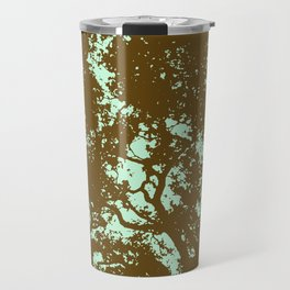 Mint and Brown Forest Travel Mug