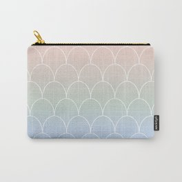 Mermaid Tail Scolloped Shell Repeat Carry-All Pouch