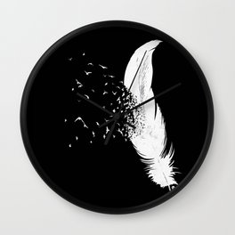 Birds of a Feather (Black) Wall Clock