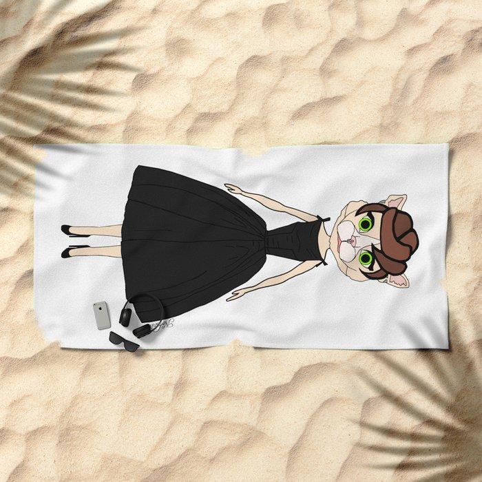 Audrey Cat Beach Towel