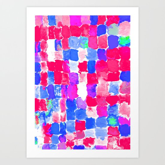 Painted Swatches: Freedom Art Print