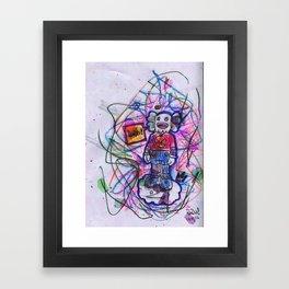 KAWS X RADIO Framed Art Print