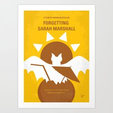 No394 My Forgetting Sarah Marshall minimal movie poster Art Print