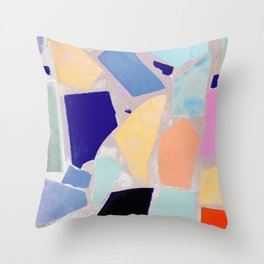 Multicolor Mosaic Shapeshifter Throw Pillow