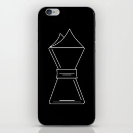 Chemex pictogram iPhone Skin