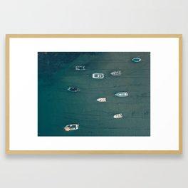 Boats In Salcombe Framed Art Print