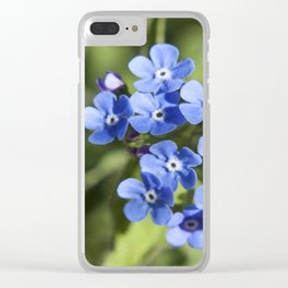 Forget Me Not Photography Print Clear iPhone Case