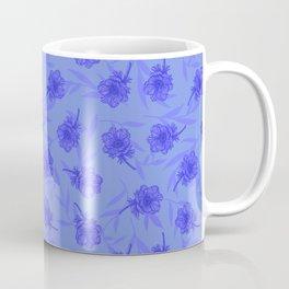 Anemone Field Blue Coffee Mug