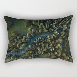 Arial View of River Rectangular Pillow
