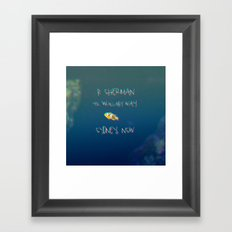 CLOWNFISH Framed Art Print