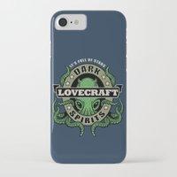 lovecraft iPhone & iPod Cases featuring Lovecraft Dark Spirits by Rebekie Bennington