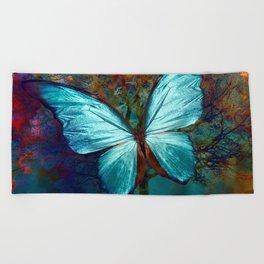 The Blue butterfly Beach Towel